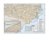 Political Map of North Carolina
