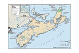 Physical Map of Nova Scotia