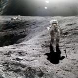 Astronaut Charles M Duke  Jr  on Moon