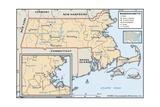 Political Map of Massachusetts