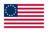 Historical Flag of the United States of America  Betsy Ross Flag  1776