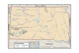 Physical Map of South Dakota