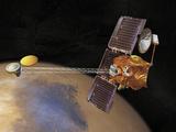 Artist's Imagination of Nasa's 2001 Mars Odyssey