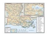 Political Map of Louisiana
