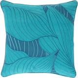 Hosta Leaves Pillow Poly Fill - Teal/Cobalt