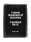 I Never Dreamed Of Success