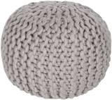 Fargo Wool Sphere Pouf - Gray