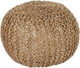 Bermuda Jute Sphere Pouf - Beige*