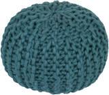 Fargo Wool Sphere Pouf - Teal
