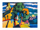Village Church in Riegsee  Bavaria  1907