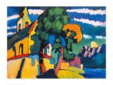 Village Church in Riegsee  Bavaria  1907