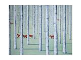 A Skulk of Foxes Giclée par Rebecca Campbell