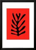Feuille Noire Sur Fond Rouge  c1947