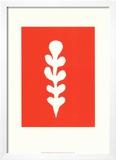 Palme Blanche Sur Fond Rouge  c1947