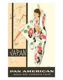 Japan - Japanese Geisha Dancer in Kimono - Pan American World Airways