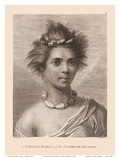 Hawaiian Native Girl - A Young Woman of the Sandwich Islands