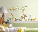 Woodland Fox & Friends Peel and Stick Wall Decals