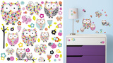 Prisma Owls & Butterflies Peel and Stick Wall Decals