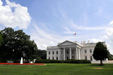 The White House and its Front Lawn are Seen Here on US Independence Day  July 4  2009