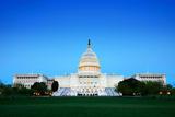 Capitol Hill Building at Dusk  Washington Dc