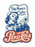Pepsi - Vintage 1950s Take Home a Carton Graphic