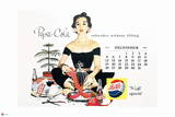Pepsi - Vintage Pepsi Girl: 1954 Calendar: December