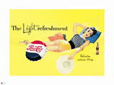 Pepsi - Vintage Pepsi Girl; Light Refreshment 1954 Ad