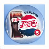 Pepsi - Big Big Glass Blue Vintage 1950s Sign