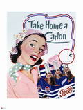 Pepsi - Vintage 1950s Take Home a Carton Ad