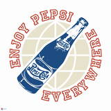 Enjoy Pepsi Everywhere Vintage Graphic