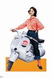 Pepsi - Vintage Pepsi Girl; Motorbike 1950s Cutout Ad