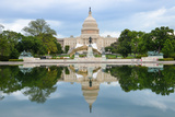 Washington Dc  US Capitol Building and Mirror Reflection on Water