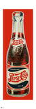Pepsi - Vintage 1930s Bottle Cutout Sign (Red Background)
