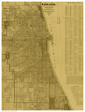 Antique Map of Chicago (neutral)