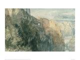 Burg Katz with View towards Burg Rheinfels  1817
