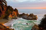 Mcway Falls in Big Sur at Sunset  California
