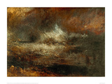Stormy Sea with Blazing Wreck