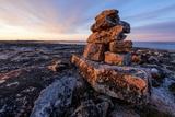Stone Cairns in Arctic  Nunavut Territory  Canada