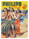 Hawaiian Hula Dancers - Philips Radio