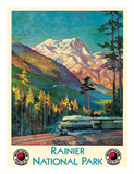 Mount Rainier National Park - Stampede Pass  Washington USA - Northern Pacific Railway