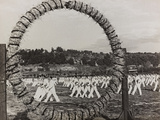 Athletes Engaged in a Fascist Parade Gymnastics