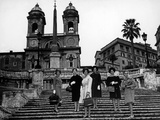 Models on the Steps of Piazza Di Spagna  Rome