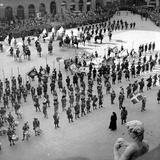 Parade in Historical Costume in Piazza Della Signoria  Florence