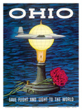 Ohio USA - Gave Flight and Light to the World - Birthplace of Thomas Edison  Wright Brothers
