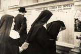 Nuns in Front of a List for the Election of the House of Deputies 18 April 1948