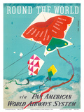 Round the World - Kites - via Pan American World Airways