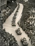 Parade of Italian Military Units in the Piazza Venezia  Rome