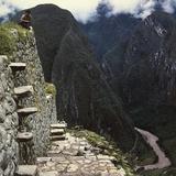 Detail of a Structure at Machu Picchu  Peru