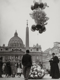 Sale of Balloons in Front of St Peter's Basilica at the Vatican