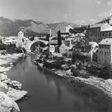 The City of Mostar with the Stari Most (Old Bridge)  Bosnia Herzegovina